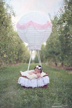Oh my hot air balloon newborn image