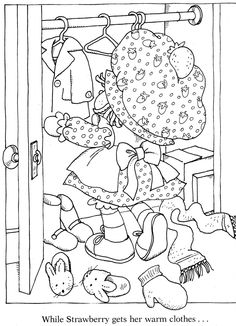 Vintage Kenner / American Greetings Strawberry Shortcake - Strawberry Shortcake's Winter  Fun Coloring Book  _____________________________ (Purchased from Etsy as a digital book, but I'm 99% certain it was taken from Bonnie Jones' Picasa, and the Etsy seller just left out the coloured pages.  https://picasaweb.google.com/116132144965793723825/ColoringBookStrawberryShortcakeSWinterFunColoringBook?noredirect=1)