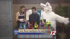The Sorry Bunny stops by the show to apologize for the unhealthy sweets that come with Easter.