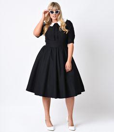 Stop Staring! Plus Size Retro Black Half Sleeve Almira Swing Dress Timeless Fashion, Fashion Beauty, Plus Size Vintage Clothing, Vintage Outfits, Vintage Fashion, Pin Up Outfits, Vintage Glam, Fashion Dresses, Fashion Clothes