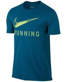 Men'S Dry Logo Running T-Shirt, Industrial Blue