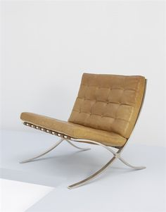 "PHILLIPS : NY050306, LUDWIG MIES VAN DER ROHE, Rare and important early ""Barcelona"" Chair, ca. 1932."