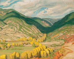"""E. Martin Hennings (1886-1956) """"Entrance to the Rio Hondo"""""""