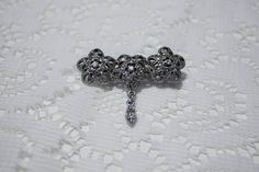 90's Triple FLower Metal Brooch by JenuineCollection on Etsy #brooch #flower