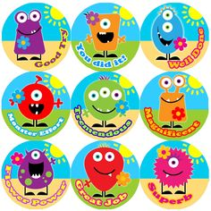 <p>These colourful Monster Flowers Praise Words reward stickers are perfect to make a big impression on young learners and can be used with any Reward System.</p>
