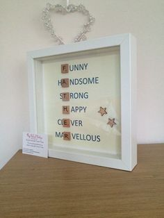 Father's Day scrabble frame by MyBelovedBoutique on Etsy