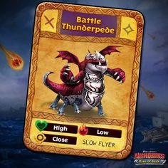 Dragons: Rise of Berk - Battle Thunderpede card
