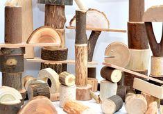 150 tree building blocks, Natural wooden kids toy, Montessori inspired wood toy Toddler birthday gift, Waldorf organic tree blocks