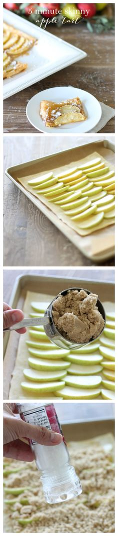 5 Minute Skinny Apple Tart recipe - a favorite fall dessert recipe without a lot of effort!
