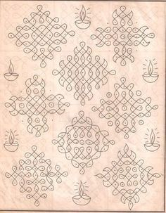 Kolam designs, Indian floor art