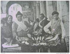 CARTOLINA GRANDE FORMATO 18 X 24 -ITALIENS ITALIA IL MERCATO DEL PESCE