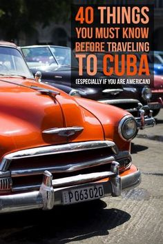 40 Things You Must Know Before Traveling To Cuba (Especially If You're American) Planning on traveling to Cuba? Here's an extensive list of tips you should know before heading to Cuba, especially if you're an American traveler. Travel Info, Travel Guides, Travel Tips, Vinales, Cruises To Cuba, Costa Rica, Going To Cuba, Travel Tickets, Visit Cuba