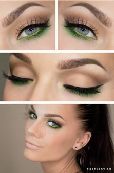 Green makeup for green eyes.