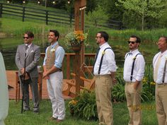 This mens fashion is spot on for a Kentucky Derby themed wedding! The suspenders are so great! http://www.mybigdaycompany.com/weddings.html