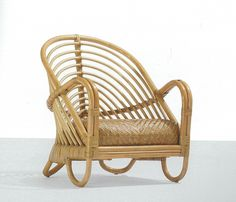 Arne Jacobson Charlottenborg lounge chair of rattan and cane, wright20