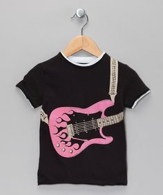 Take a look at this Pink Flame Guitar Tee - Toddler & Kids by Mini Shatsu on #zulily today!