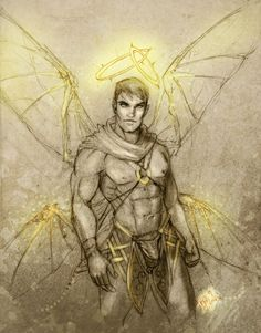 character study 01 by elGuaricho on DeviantArt Male Fairy, Fantasy Male, Angels And Demons, Male Figure, Gay Art, Beautiful Creatures, Supernatural, Deviantart, Statue