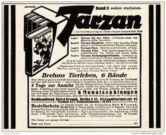 Original-Werbung/ Anzeige 1925 - TARZAN / BREHMS TIERLEBEN / BIAL & FREUND - BRESLAU - ca. 150 x 115 mm