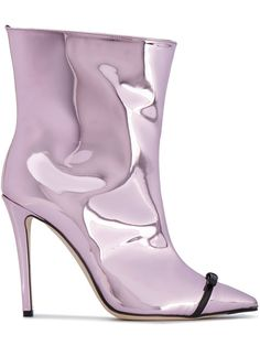Marco De Vincenzo Metallic ankle boots with open zip