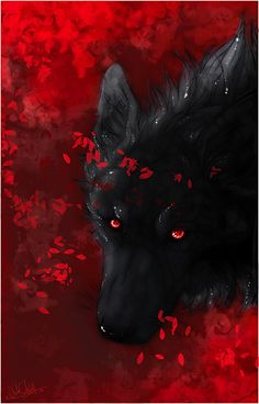 Blackblood:black wolf with red eyes.Cunning,stubborn,and ambitious.Power:Fire (open) Sister to redspots and blaze