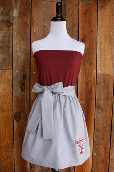 Texas A Aggies Strapless Game Day Dress - Size Small