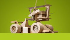 Even for kids, there's nothing quite like the feeling of pride one gets from building something yourself! These cleverly designed DIY cardboard toys are a perfect