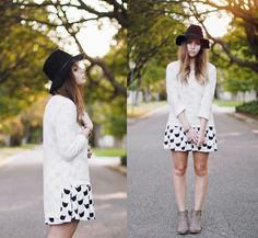 Pepa Loves Cat Dress, Beginning Boutique Boots, Romwe Jersey, Rvca Hat - Everybody wants to be a cat - Amy S