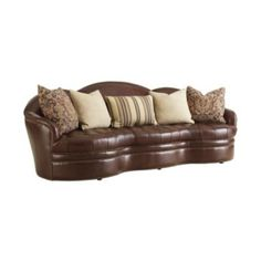 #EliteFurnitureGallery #HenredonFurniture #NCfurniture This Henredon IL8811-C Leather Sofa shown with optional pillow package is available through Elite Interiors & Furniture Gallery. Nationwide delivery available. www.elitefurnituregallery.com