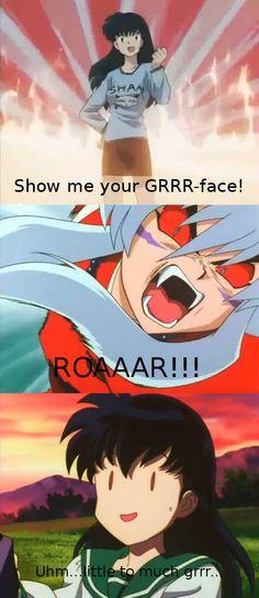 Inuyasha's GRRR-face by DragonLovingGirl6.deviantart.com on @deviantART