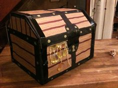 Simple Cardboard Pirate Treasure Chest Gift Box