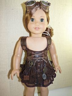 RESERVED for sratsey. Custom order. American Girl goes Steampunk. $35.00.