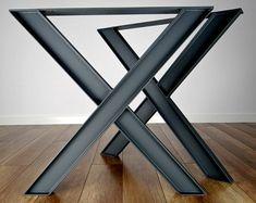 Metal Table Legs 2x2 Flat Black Set of 4 | Etsy Dining Table Sizes, Steel Dining Table, Steel Table Legs, Dining Table Legs, Table Bench, Dining Room, Industrial Metal Table Legs, Metal Table Frame, Industrial Design