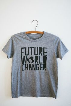 Calling All Future World-Changers! Your statement tee has arrived! We believe every human being [young and old] has the power... Want more inspiration? www.inspirecast.ca
