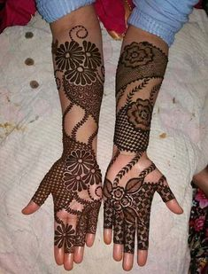Full Arm Mehndi Design Ideas