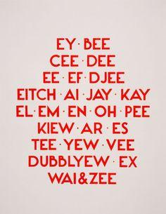 Tauba Auerbach. How to Spell the Alphabet. 2005