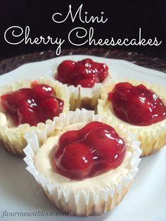 Flour Me With Love: Mini Cherry Cheesecakes