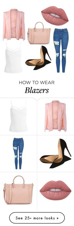 """""""work"""" by kylie-jenner-7 on Polyvore featuring Sans Souci, Topshop, Christian Louboutin and Lime Crime"""