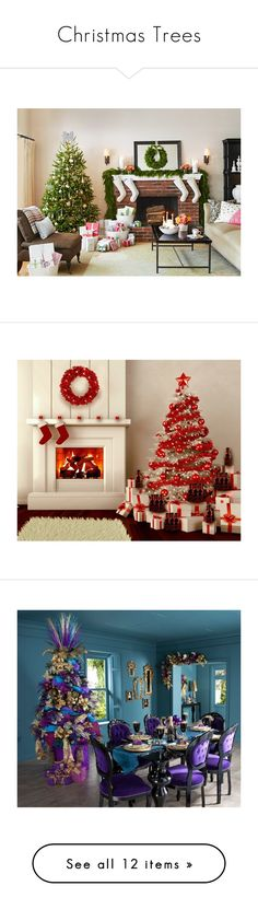 """""""Christmas Trees"""" by colonae on Polyvore featuring accessories, home, home decor and holiday decorations"""