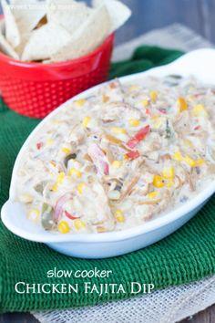 Slow Cooker Chicken Fajita Dip