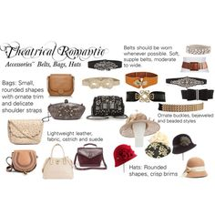 """""""Theatrical Romantic Accessories: Bags, Belts, Hats"""" by trueautumn on Polyvore"""