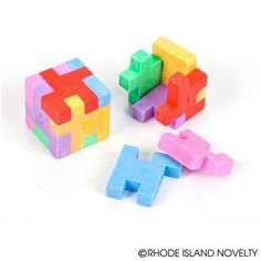 This unique Puzzle Cube Eraser features six geometric shapes that fit together. Great for classroom prizes and giveaways! #PUZZLE #CUBE #Games #Erasers #BacktoSchool #Teachers #SchoolYear #Teaching #Classroom