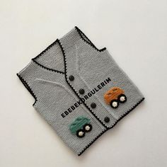 Baby Sweater Knitting Pattern, Baby Knitting Patterns, Crochet Case, Baby Cardigan, Baby Sweaters, Baby Dress, Cross Stitch, Tuna, Templates