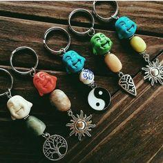 these beautiful key rings.