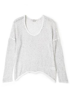 Brushed Open Knit Jumper by HELMUT
