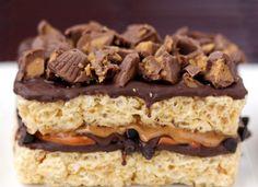 Candy Bar Desserts: Stuffed Rice Krispies Treats