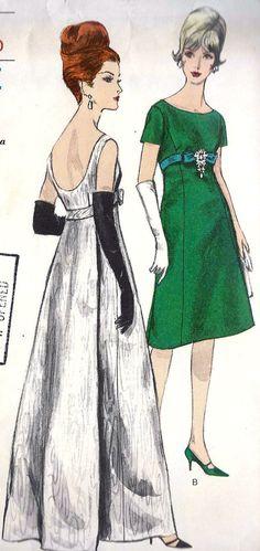 1960s Vintage Evening Gown Cocktail Dress