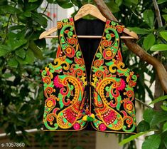 Ethnic Jackets & Shrugs Gorgeous Cotton Kutchi Work Ethnic Jacket  *Fabric* Cotton  *Sleeves* Sleeves Are Not Included  *Size* S- 36 in, M- 38 in, L- 40 in  *Length* Up To 22 in  *Type* Stitched  *Description* It Has 1 Piece Of Women's Ethnic Jacket  *Work* Kutchi Work  *Sizes Available* S, M, L *   Catalog Rating: ★4.1 (868)  Catalog Name: Hrishita Gorgeous Cotton Kutchi Work Ethnic Jackets Vol 6 CatalogID_129052 C74-SC1008 Code: 483-1057860-