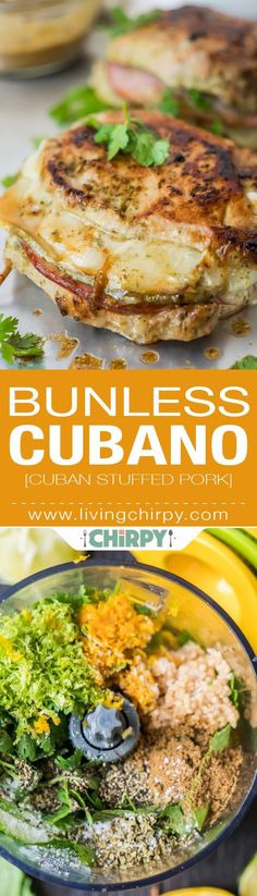 Low Carb Recipes Bunless Cubano aka Cuban Stuffed Pork, low-carb, paleo, gluten-free version of this bomb sandwich. Pork Recipes, Paleo Recipes, Low Carb Recipes, Cooking Recipes, Pork Meals, Pescatarian Recipes, Snacks Recipes, Skinny Recipes, Sandwich Recipes