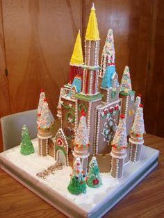 Daimon Art: The Third Gingerbread Castle Gingerbread Castle, Gingerbread House Template, Christmas Gingerbread House, Gingerbread Cookies, Merry Christmas, Cookie House, Food Ideas, Craft Ideas, Instructional Coaching