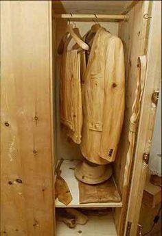 wooden suit
